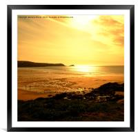 Fistral Beach Sunset  , Framed Mounted Print