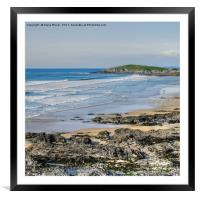 Fistral Beach Newquay, Framed Mounted Print