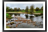 The River Wharfe Stepping Stones, Framed Mounted Print