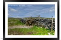 Footpath to Malham Cove , Framed Mounted Print