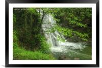 Janets Foss Waterfall Malham Yorkshire, Framed Mounted Print