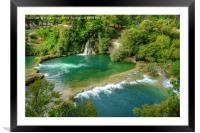 Krka Waterfalls and Rapids , Framed Mounted Print