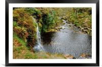 Lumb Falls Yorkshire, Framed Mounted Print