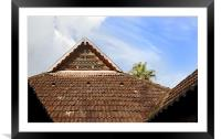 Kerala Architecture internal Courtyard, Framed Mounted Print