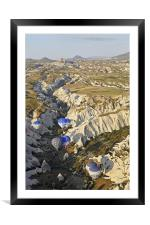 Gorged hot air balloons, Framed Mounted Print