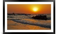 Manori Surf and Sunset, Framed Mounted Print