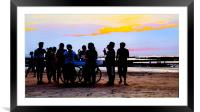 Beach Party at the Gollawalla, Framed Mounted Print