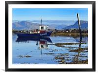 Boat reflected, Framed Mounted Print