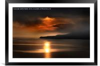 Reflected Sunfire, Framed Mounted Print