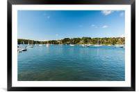 Yachts On Helford River, Framed Mounted Print