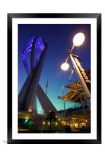 Portsmouths Spinnaker Tower Illuminated at dusk, Framed Mounted Print