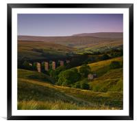 Yorkshire Dales Railway Viaduct, Framed Mounted Print