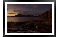 The Cuillins at dusk, Framed Mounted Print