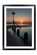 West Wittering Sunset, Framed Mounted Print