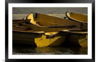 Boats, Framed Mounted Print