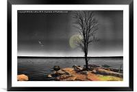Autumn Moon, Framed Mounted Print