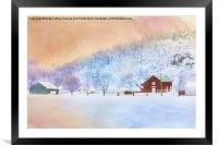 The Red Barn, Framed Mounted Print