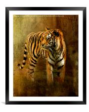On The Hunt, Framed Mounted Print