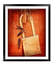 Step Away From That Lock!, Framed Mounted Print