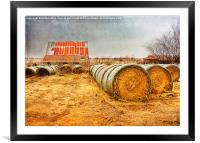 Slumbering in the Countryside, Framed Mounted Print