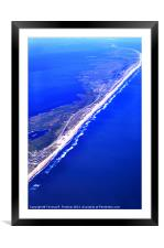Outer Banks Aerial, Framed Mounted Print
