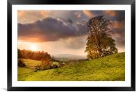Cotswolds Sunset, Framed Mounted Print