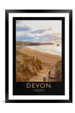 Devon, Framed Mounted Print