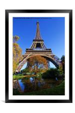 Autumnal Tower, Framed Mounted Print
