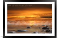 Cabrillo Beach at sunset, Framed Mounted Print