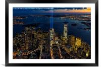 NYC 911 Tribute In Lights, Framed Mounted Print