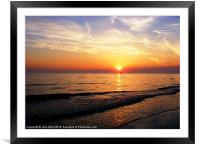 High tide and Sunset..., Framed Mounted Print