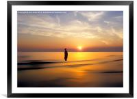 Iron Man at Sunset, Framed Mounted Print
