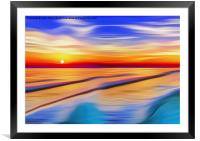 Wide in the bay, Framed Mounted Print