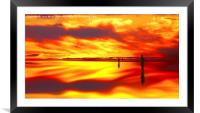 Reflection of Sunset  , Framed Mounted Print