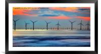 Windmills to the Horizon , Framed Mounted Print