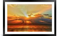 Silhouette , Framed Mounted Print