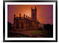 WW2 Bombed out Church, Framed Mounted Print