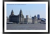 Liverpool Waterfront Skyline, Framed Mounted Print