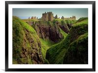 dunnottar castle, Framed Mounted Print