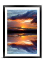 reflect on this, Framed Mounted Print