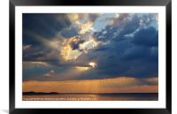 Sun Rays Abound, Framed Mounted Print