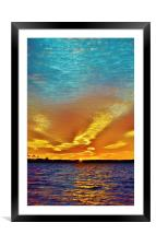 3 Layer Sunset, Framed Mounted Print