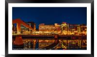 Glasgow Skyline from The Broomielaw, Framed Mounted Print