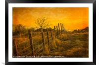 Winter Sunset , Douglas Park in  Largs, Framed Mounted Print