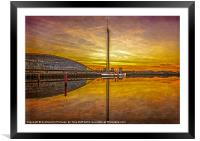 PS The Waverley at Sunset, Framed Mounted Print