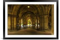 The Cloisters at Glasgow University, Framed Mounted Print