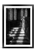 Sunlight on Stairs Glasgow Cathedral, Framed Mounted Print