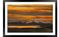 Arran Cumbrae and Bute Sunset, Framed Mounted Print