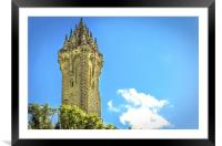 National Wallace Monument Stirling, Framed Mounted Print