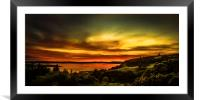 Scottish Sunset over The Clyde, Framed Mounted Print